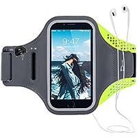 CE-Link Universel Brassard de Sport ,Jusqu'à 6.0 Pouces Avec Sangle Ajustable Armband Avec Porte-Clés Attache pour Câble Porte-Cartes,Brassard Sport pour iPhone 7plus/8plus/6Plus/6sPlus Samsung S8Plus/S6EDGEPlus/Samsung Note3/4/5/6/8 Huawei P8 /P9Lite Bon Maintien pour de Course, Jogging, Vélo, Pêche