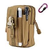 CHEEFULL Confezione Borsa universale multiuso tattico del sacchetto di Cintura della vita militare pacchetto di Fanny Tasca del telefono gadget tasca per banconote (Cachi)