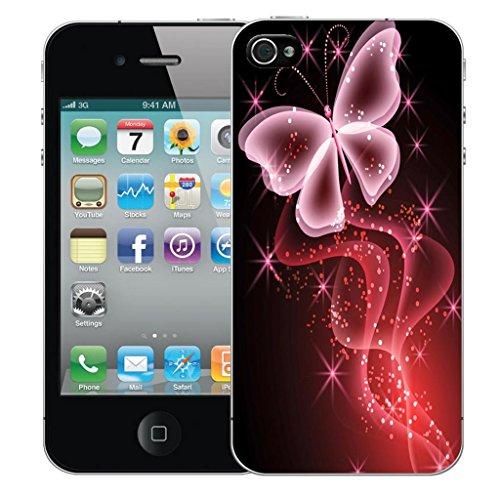 Nouveau iPhone 5s clip on Dur Coque couverture case cover Pare-chocs - natures bounty Motif avec Stylet pink butterfly sparkle