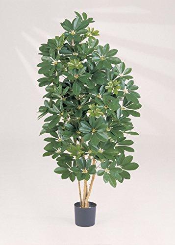 artplants – Kunstpflanze Schefflera Samantha, Premium, getopft, 1420 Blätter, grün, 170 cm – Künstliche Strahlenaralie/Deko Pflanze