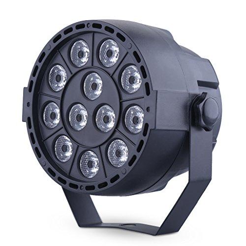 Luz del Escenario 12x1W 12 Canales LED RGB (Luz Ambiente, Bares, Fiesta, Partido, DJ, Pub, Etapa 4 Par iluminación Modo DMX / Auto / sonido / maestro-esclavo) [Clase de eficiencia energética
