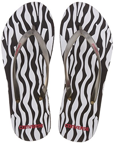 Converse Women's Black/White Flip-Flops and House Slippers -7 UK/India (40 EU)