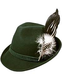 Alpenflüstern Damen Filzhut Trachtenhut Hahnenschlappenfeder ADV02600M50 grün