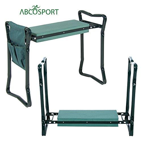 Garten-Kniepolster und Hocker, schützt Knie und Kleidung vor Erde & Grasflecken, faltbarer Stuhl zur einfachen Aufbewahrung, aus EVA-Schaumstoff, robust und leicht, mit Werkzeugtasche