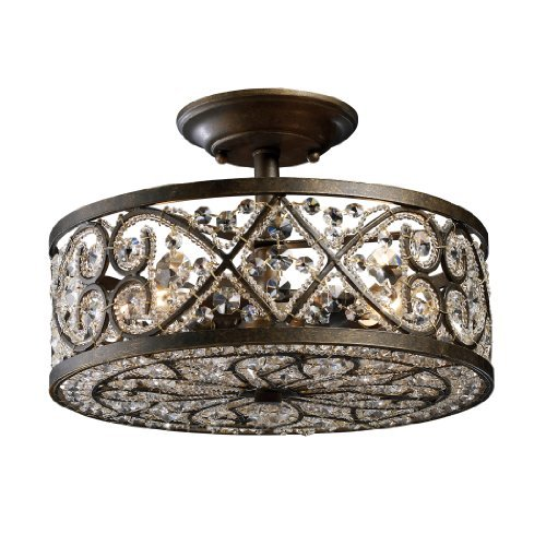 Elk 11286/4 Amherst 4-Light Semi-Flush In Antique Bronze by Elk (Antique Bronze Semi Flush)