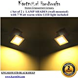 #10: KartnOri Set of 2 handcrafted Wall mounted LAMP SHADES for drawing/dining/bedroom/office/balcony/living room with 7 watt SQUARE PANEL LED light included , BLACKSHEEP COLOR - 2 YEARS WARRANTY (BLACKSHEEP)