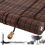 HAIPENG-Tenda a Rullo Cortina di bambù Tapparella Avvolgibile Oscuramento Veneziano Cieco Romano per Finestra E Porte Partizione su Misura (Color : A, Size : 120x220cm)