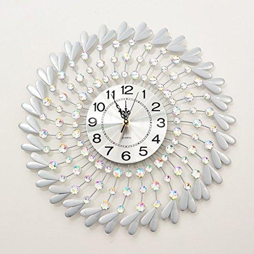 Jack Mall Stumm Uhr dekoriert Quarzuhr Wohnzimmer Moderne einfache Wanduhr (Farbe : Silber) Uhr Jack