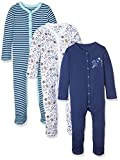 Mothercare Baby Boys' Rocket-3 Pack Bodysuit, Blue, 0-3 Months (Manufacturer Size: up to 3 Mnths-14.5Lbs)