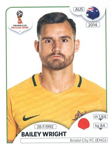 World Cup Aufkleber Russland 2018Panini 217Bailey Wright Australien Fußball Aufkleber
