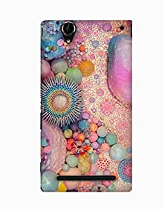 Pick Pattern Back Cover for Sony Xperia T2 Ultra(Matte)