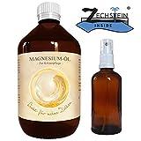Zechstein Inside MagnesiumÖl Magnesiumchlorid Natursole 1000ml inklusiv Sprühflasche aus Glas 100ml