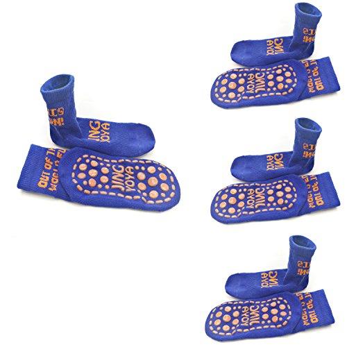 c36c7bce25695 TUKA  4 paires  Chaussettes antidérapantes pour bébé et enfant 2-3 ans