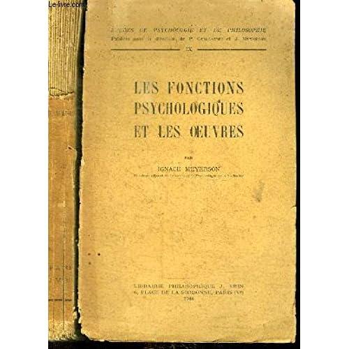 Les Fonctions Psychologiques Et Les Ouvres