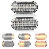 2 X LED Blinker Seitenblinker Blinkleuchte Dynamisch Laufblinker Kotflügel-Blinker mit E-Prüfzeichen V-171306LG