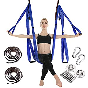 MANLI Clean Dell Yoga Hängematte Set Luftseide Yoga Set Safe Deluxe Aerial Kit Yoga Anti-Schwerkraft-Swing/Sling/Inversionswerkzeug