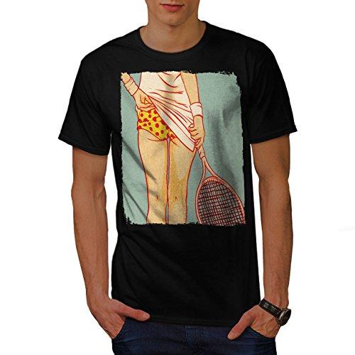 Tennis Mädchen Hintern Sexy Gammler Haupt Herren S T-shirt | Wellcoda (Tennis-küken)