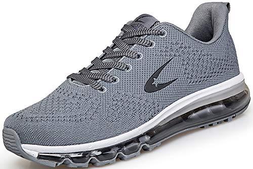 Scarpe da Ginnastica Uomo Donna Sportive Running Corsa Fitness Sneakers Grigio Taglie 38