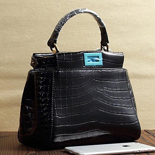 Mefly Nuovo di borsette in cuoio cuoio superiore spalla Mini Cross Bag Himalaya White black