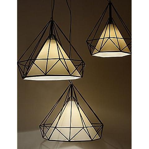 ZSQ Diamond/Mini/lámpara colgante 1 luces/moderna simplicidad/Blanco y Negro/Acabado/acero al carbono/trapo/Droplight , 220-240 v-blanco+negro