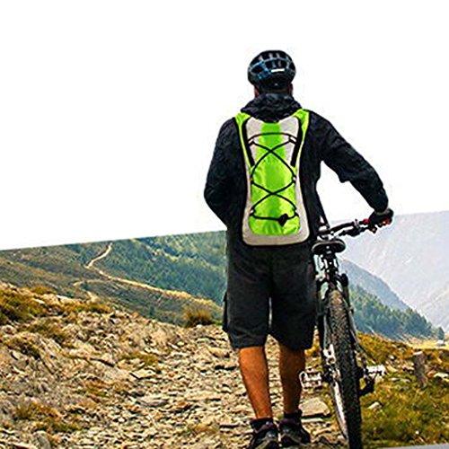 Generic 5 Liter Fahrradrucksack / Trinkrucksack, Ideal zum Wandern, Klettern, Fahrradfahren sowie Laufsport oder Camping Grün