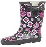 Kurze Damen-Gummistiefel für Festivals, Regen- und Winterwetter, für weiten Wadenumfang geeignet, - mehrfarbig - Größe: 39 1/3 EU
