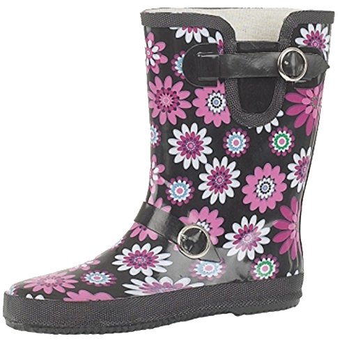 Ladies Festival,Rain,Snow Wide Calf FIT Flower Short Wellington Boots