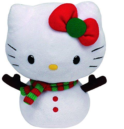 Hello Kitty - Snowman stuffed toy, 15 cm, white (TY 41015TY)