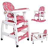 Seelux-Chaise-Haute-de-Bb-pour-Enfants-3-en-1-Rose