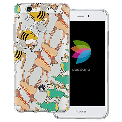 dessana Süße Tiere transparente Schutzhülle Handy Case Cover Tasche für Huawei Nova Hunde im ()