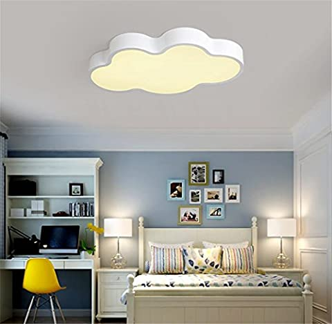 Kinderzimmerlampe Weiß 50CM Dimmen mit Fernbedienung Babylampe Wolken Lampe Led Baby Licht Kinderlampe Cloud Deckenlampe Deckenleuchte Wolke Kinderzimmer Leuchte Kinder Schlafzimmerlampe Schlafzimmer (Weiß 50CM Dimmen mit Fernbedienung)