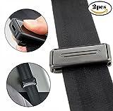 Seggiolino auto cintura di sicurezza cintura di regolazione, clip | Smart regolare cinture a relax spalla collo offre una comoda e sicura | 2PCS nero