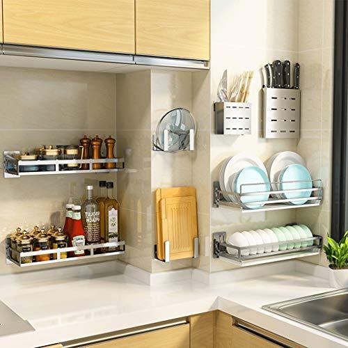 Speicher-einheit-kombination (CCF Regal 304 Edelstahl Punch Free Entwässerung Abtropfbrett Küche Wandhalterung Wand Geschirr Liefert Lagerregal CCFSF (größe : 12.8×5.8×12cm))