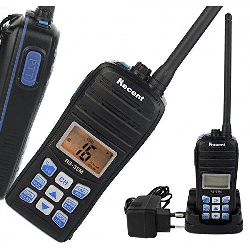 Schwimmende VHF Marine Radio Recent rs-35m Transceiver Funkgerät mit Lithiumbatterie Kit komplett mit antenne Ladegerät Tisch Trafo Clip Schwimmendes Vhf Radio