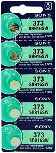SONY 373 LOT DE 5 PILES SILVER OXIDE 1,5V
