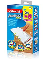 Vileda Attractive Plus Ricambio Panno Cattura Polvere Elettrostatico Usa e Getta - 30 Pezzi