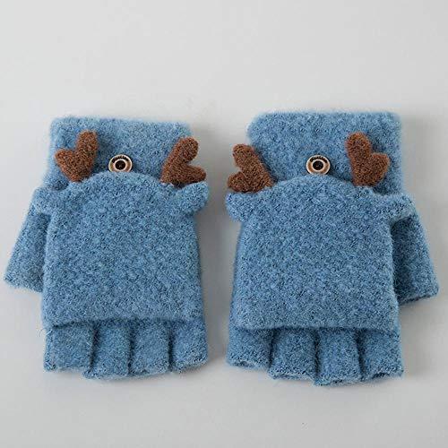 Ludage Qualität Handschuh Winter Warmer Handschuh Klappe Womens Stricken halbe Finger Weihnachten Hirsch Handschuhe