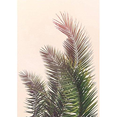 display08Modern Art Girl Beach Leaf Quilt rahmenlose Malerei Wand Poster Home Dekoration 30cm x 40cm 6# (Quilt-rahmen)