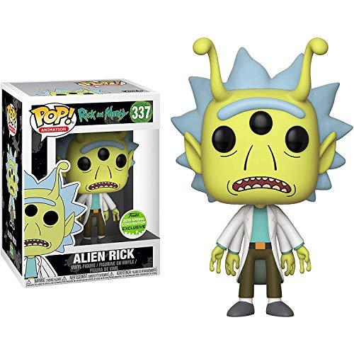 """Funko Pop! Animation Rick y Morty SDCC 2018 Convención de Primavera Edición Limitada """"Alien Rick"""" 337 Figura Exclusiva"""
