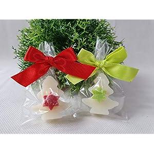 2 Stück Weihnachtsseifen3 – Tannenbaum mit Stern – dekoriert – Florex Schafmilchseife