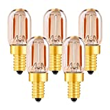 Genixgreen T22 LED-Lampe, 1W Vintage Röhren-Nachtlicht Amber Glow 10W Glühlampenersatz E14 Kandelaber LED-Faden-Zeichenlicht Ultra Warm White 2200K Nicht dimmbar 5er Pack