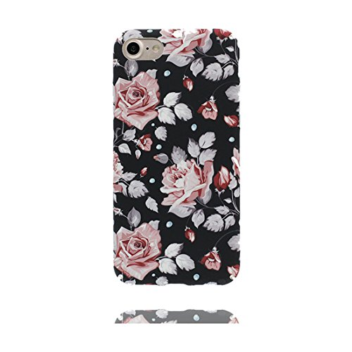 iPhone 6s Custodia, Copertura iPhone 6 4.7, | Peso leggero ultra sottile Silicone Gel Soft Gel | Cartoon Fashion iPhone 6S Case - Multiflora Rose, Antigraffio e ring supporto Color 4