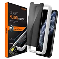 Spigen iPhone 11 Pro MAX Align Master [Privacy] Tempered Glass Screen Protector with Auto Align Technology - Privacy