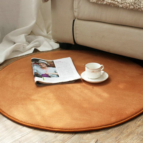 YALL The Living Room Floor Mat Circular Thickened Coral Velvet Cushion Bedroom Computer Yoga Mat