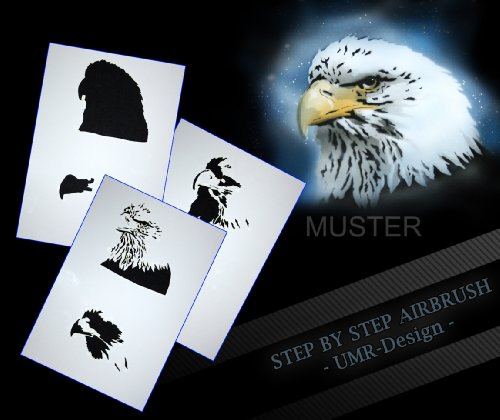 Step by Step Airbrush Stencil AS - 067 Eagle - Buy Online in