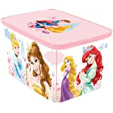 Curver Deco 217787 40 x 30 x 4 cm Rectangular Polypropylene Storage Box with Amsterdam Princess Design in Pink