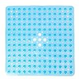 Pauwer Quadratische Rutschfeste Badematte aus Transparentem PVC Bade- und...