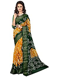Roop Mantra Silk Saree (Sb-50Yellowgreen_Multi-Coloured)