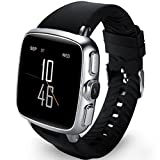 HUWAI Smart Watch Android WiFi Uhr GPS Positionierung Smart Armbanduhr Silber