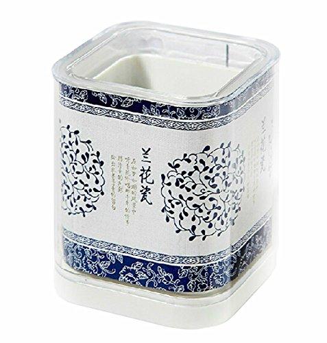 Titulaire porcelaine bleu et blanc Crayon chinois Creative Pencil Holder WHITE